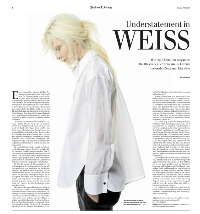 Die Berliner Zeitung berichtet über Lis Lareida