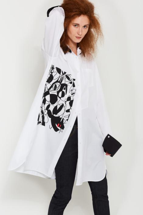 LIS LAREIDA – EGYPTIAN COTTON SCREEN PRINT SHIRT DRESS