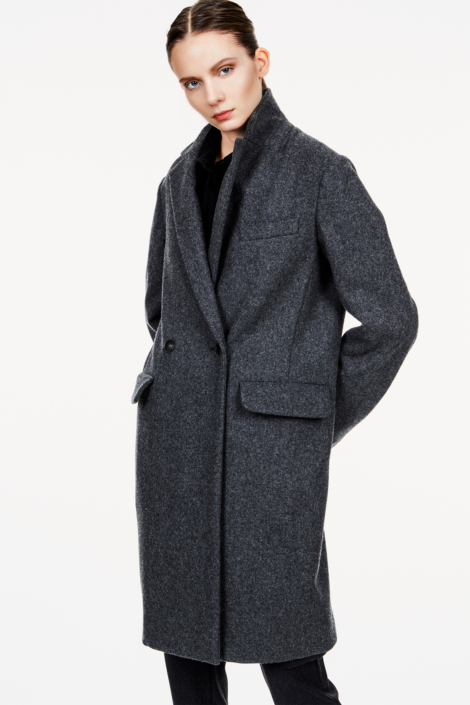 TOTO FELTED WOOL BEAVER CLOTH COAT